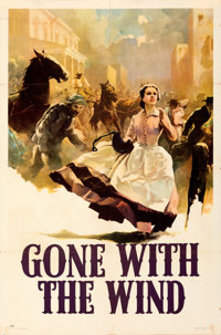 "Gone with the Wind (MGM, 1939). Folded, Very Fine-. Roadshow One Sheet (27"" X 41""). Style CP, Armando Seguso A..."