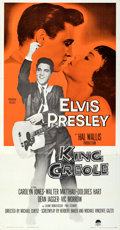 "Movie Posters:Elvis Presley, King Creole (Paramount, 1958). Folded, Very Fine. Three Sheet (41"" X 79"").. ..."