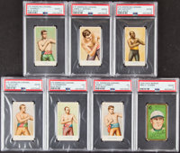 1910 E76 American Caramel Boxing PSA Graded Collection (6) Plus 1911 T205 Fred Clarke