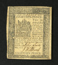 Colonial Notes:Delaware, Delaware May 1, 1777 18d Extremely Fine....