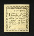 Colonial Notes:Pennsylvania, Pennsylvania January 18, 1777 3d Superb Gem New....