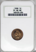 Proof Indian Cents: , 1908 1C PR66 Red and Brown NGC. NGC Census: (28/4). PCGS Population (10/2). Mintage: 1,620. Numismedia Wsl. Price for NGC/P...