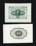 Fractional Currency:First Issue, Fr. 1243SP 10c First Issue Wide Margin Pair Gem New.... (Total: 2 notes)