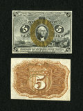 Fractional Currency:Second Issue, Fr. 1232SP 5c Second Issue Narrow Margin Pair Gem New.... (Total: 2 notes)