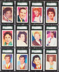"Non-Sport Cards:Lots, 1959 Kane Products ""Disc Stars"" (Large) SGC Graded Collection (12)...."