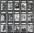 Non-Sport Cards:Lots, 1964 Topps Beatles Black & White - 3rd Series Graded Collection (15)....