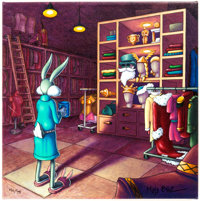 """Decisions Decisions"" Bugs Bunny Limited Edition Art Print by Mike Blitz #40/75 (Warner Brothers, 2015)"