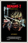 """Demons 2 & Other Lot (Imperial, 1987). Rolled, Overall: Very Fine. One Sheets (3) (27"""" X 41"""" & 20""""..."""