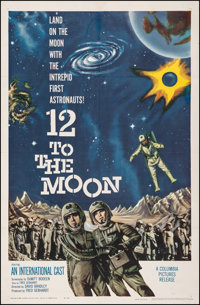 "12 to the Moon (Columbia, 1960). Fine on Linen. One Sheet (27"" X 41""). Science Fiction"