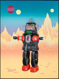 """Robby by Joe Petro III (1987). Rolled, Very Fine-. Signed Artist Proof Screen Print Poster (21.75"""" X 29""""). Sci..."""