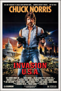 """Movie Posters:Action, Invasion U.S.A. & Other Lot (Cannon, 1985). Folded, Overall: Very Fine. One Sheets (4) (27"""" X 41"""" & 25"""" X 38""""). Action.. ... (Total: 4 Items)"""