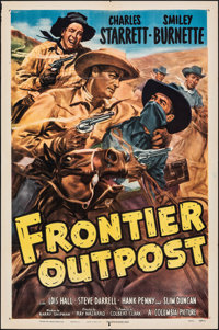 "Frontier Outpost & Other Lot (Columbia, 1949). Folded, Fine/Very Fine. One Sheets (2) (27"" X 41""). Glenn C..."