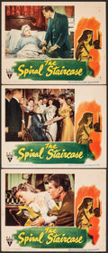 "Movie Posters:Thriller, The Spiral Staircase (RKO, 1945). Fine/Very Fine. Lobby Cards (3) (11"" X 14""). Thriller.. ... (Total: 3 Items)"