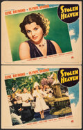 "Movie Posters:Crime, Stolen Heaven (Paramount, 1938). Fine/Very Fine. Lobby Cards (2) (11"" X 14""). Crime.. ... (Total: 2 Items)"