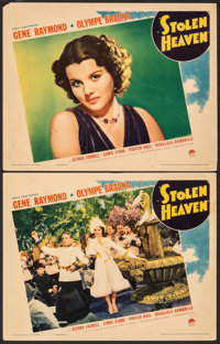 "Stolen Heaven (Paramount, 1938). Fine/Very Fine. Lobby Cards (2) (11"" X 14""). Crime. ... (Total: 2 Items)"