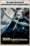"""2001: A Space Odyssey (MGM, 1968). Fine on Linen. One Sheet (27"""" X 41""""). Robert McCall Artwork. Science Fictio..."""