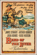 """Movie Posters:Western, Bend of the River (Universal International, 1952). Fine/Very Fine on Linen. One Sheet (27"""" X 41""""). Western.. ..."""