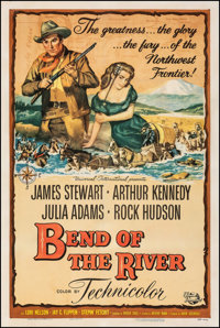 "Bend of the River (Universal International, 1952). Fine/Very Fine on Linen. One Sheet (27"" X 41""). Western..."