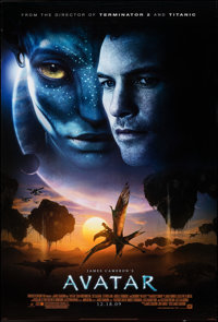 """Avatar (20th Century Fox, 2009). Rolled, Very Fine. One Sheet (27"""" X 40"""") DS Advance, Style C. Science Fiction..."""