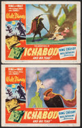 """Movie Posters:Animation, The Adventures of Ichabod and Mr. Toad (RKO, 1949). Fine. Lobby Cards (2) (11"""" X 14""""). Animation.. ... (Total: 2 Items)"""
