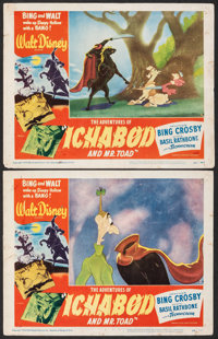 "The Adventures of Ichabod and Mr. Toad (RKO, 1949). Fine. Lobby Cards (2) (11"" X 14""). Animation. ... (Total:..."