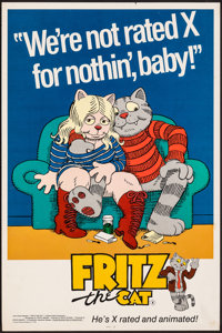 "Fritz the Cat (Cinemation Industries, 1972). Rolled, Very Fine-. Poster (18"" X 27""). Animation"