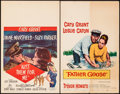 """Movie Posters:Comedy, Kiss Them for Me & Other Lot (20th Century Fox, 1957). Fine. Window Cards (3) (14"""" X 22"""") & Trimmed Window Card (14"""" X 18"""")...."""