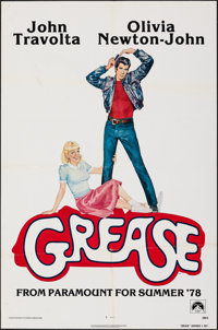 "Grease (Paramount, 1978). Folded, Very Fine-. One Sheet (27"" X 41"") Advance. Musical"