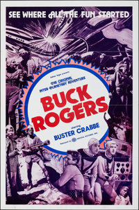 "Buck Rogers (Crystal Pictures, R-1966). Folded, Very Fine-. One Sheet (27"" X 41""). Serial"