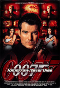 "Tomorrow Never Dies (United Artists, 1997). Rolled, Very Fine. One Sheets (2) (27"" X 40"") DS, Advance & Re..."