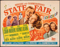 """Movie Posters:Musical, State Fair (20th Century Fox, 1945). Rolled, Fine/Very Fine. Half Sheet (22"""" X 28""""). Musical.. ..."""