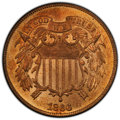 1866 2C MS65 Red PCGS. PCGS Population: (49/13 and 7/2+). NGC Census: (17/7 and 0/0+). CDN: $1,275 Whsle. Bid for NGC/PC...