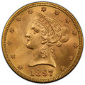 1897 $10 MS64+ PCGS. PCGS Population: (178/19). NGC Census: (176/27). CDN: $1,200 Whsle. Bid for NGC/PCGS MS64. Mintage...