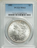 1882 $ MS62 PCGS. This lot will also include the following: 1883-O $1 MS62 PCGS; and a 1886 $1 MS62 PCGS