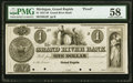 Obsoletes By State:Michigan, Grand Rapids, MI- Grand River Bank $1 18__ as G2 as Lee GRA-7-2 Proof PMG Choice About Unc 58.. ...