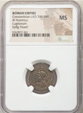 Ancients:Roman Imperial, Ancients: Constantinople Commemorative (ca. AD 330-340). AE3 or BI nummus (18mm, 12h). NGC MS....