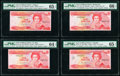 East Caribbean States Central Bank 1 Dollar ND (1985-88) (3); ND (1988) Pick 17a; 17k; 17m; 17u Four Examples PMG