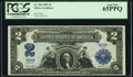 Large Size:Silver Certificates, Low Serial Number N28 Fr. 256 $2 1899 Silver Certificate PCGS Gem New 65PPQ.. ...