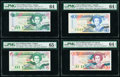 East Caribbean States Central Bank 5 (2); 10; 20 Dollars ND (1993); ND (1994) (3) Pick 26a; 31a; 32u; 33v Four Exampl