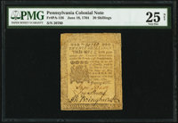 Pennsylvania June 18, 1764 20s PMG Very Fine 25 Net