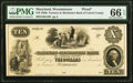 Obsoletes By State:Maryland, Westminster, MD- Farmers and Mechanics Bank of Carroll County $10 18__ as G10 Shank 150.2.9 P Proof PMG Gem Uncirculated 6...