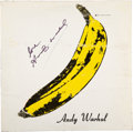 Music Memorabilia:Autographs and Signed Items, Andy Warhol Signed The Velvet Underground and Nico Vinyl LP (Verve, V6-5008)....