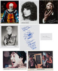 Movie/TV Memorabilia:Autographs and Signed Items, Tim Curry/Robert Englund/Donald Pleasance And Other Fright Favorites Signed Items (8). ...