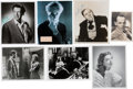 Movie/TV Memorabilia:Autographs and Signed Items, Anthony Perkins/Janet Leigh and Other Fright Favorites Signed Items (7). ...