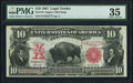 Large Size:Legal Tender Notes, Fr. 118 $10 1901 Legal Tender PMG Choice Very Fine 35.. ...