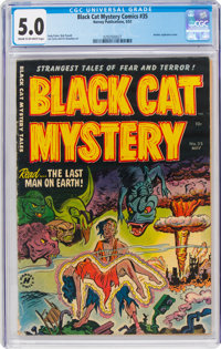 Black Cat Mystery #35 (Harvey, 1952) CGC VG/FN 5.0 Cream to off-white pages