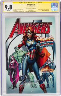 The Avengers #8 JScottCampbell.com Edition A - Signature Series: J. Scott Campbell (Marvel, 2017) CGC NM/MT 9.8 White pa...