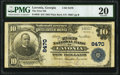 National Bank Notes:Georgia, Lavonia, GA - $10 1902 Plain Back Fr. 629 The First National Bank Ch. # 8470 PMG Very Fine 20.. ...