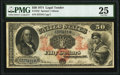 Large Size:Legal Tender Notes, Fr. 152 $50 1874 Legal Tender PMG Very Fine 25.. ...