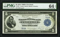 Large Size:Federal Reserve Bank Notes, Low Serial Number D32A Fr. 785 $5 1918 Federal Reserve Bank Note PMG Choice Uncirculated 64 EPQ.. ...